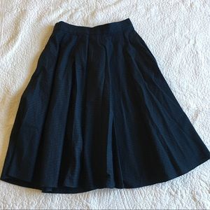 UNIQLO Navy Full Skirt. With Pockets!